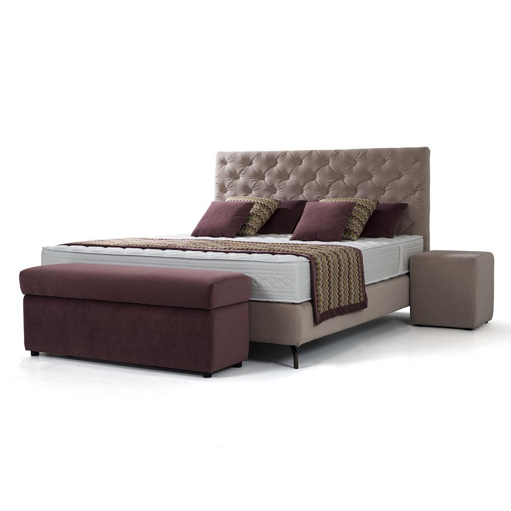 Bedombouw 180 200.King Boxspring Bed Box Innerspring Mattress 180 X 200 Cm