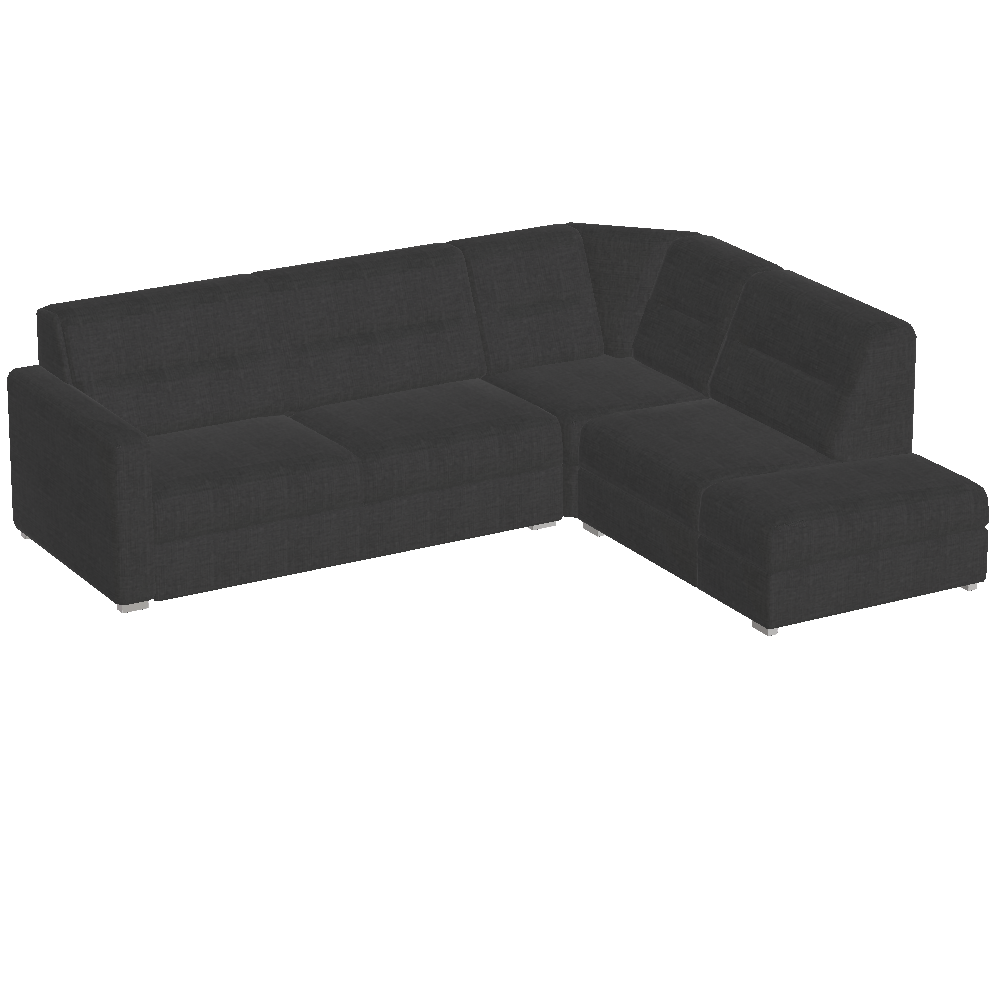 Preview of CUBUS - Sofa 2-seater, fixed corner, bench 162 cm, armrest