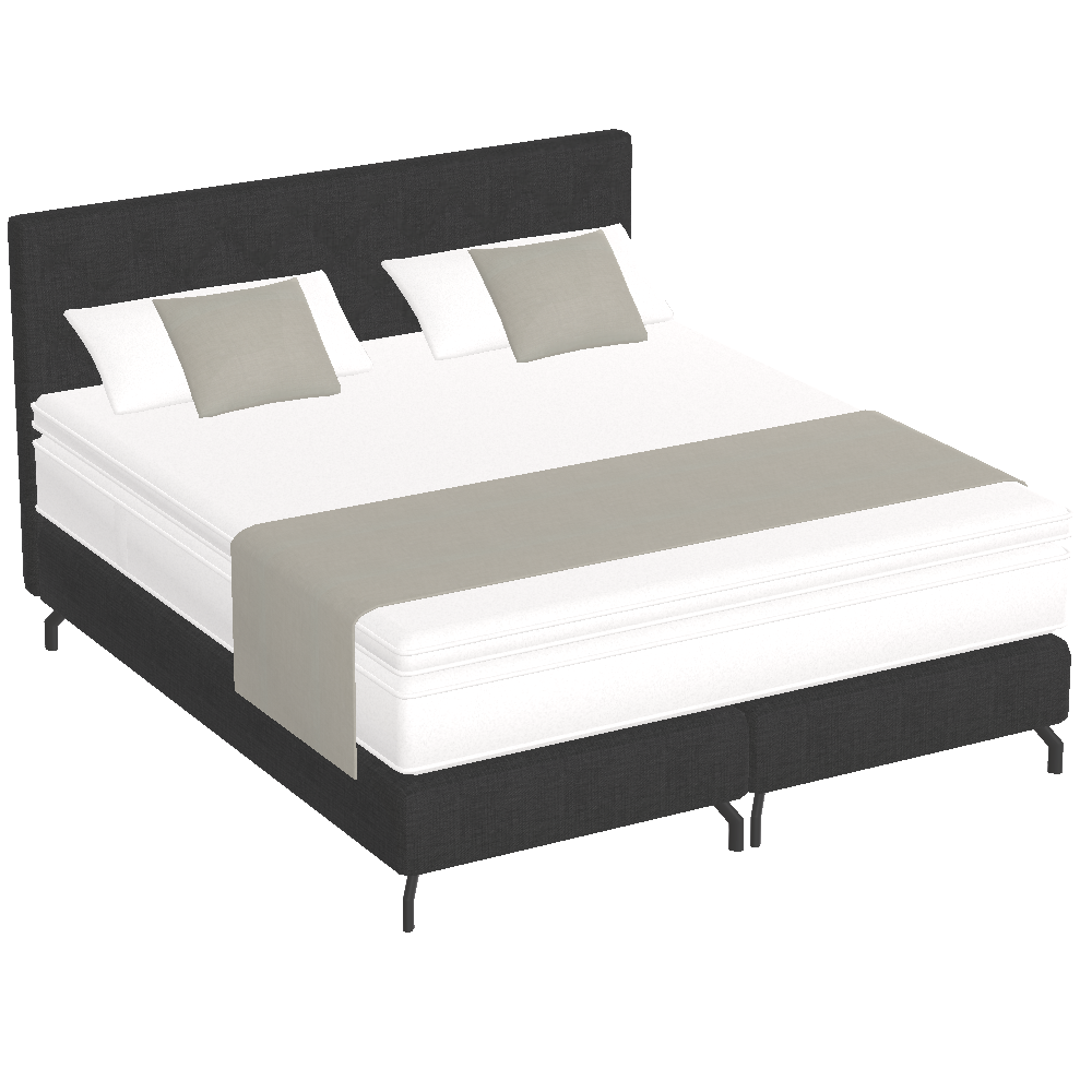 Bedombouw 180 Bij 200.Free Try Out Of King Boxspring Bed Box Innerspring Mattress 180 X